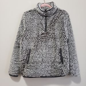 Thread & Supply fuzzy sherpa teddy bear sweater